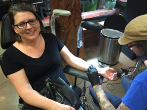 Mental Illness - A mother's show of support - getting a semi colon tattoo
