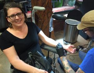 Greta Kjos - Semicolon Tattoo