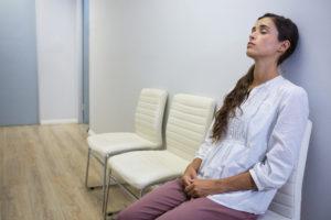 Parents waiting in behavioral ER - adolescent mental health crisis