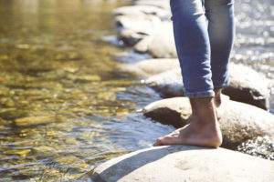 Personal growth; walking on stones